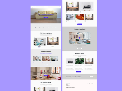 Furniture Web Page design design ux minimal web ecommerce fiverr branding website ui furniture app furniture