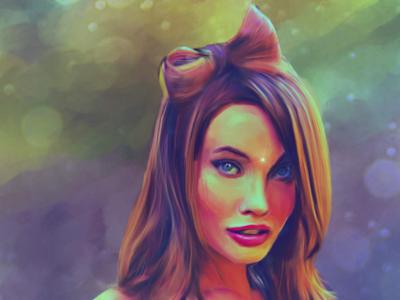 Stephanie Corneliussen supermodel painting
