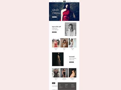 Clothing Store Landing page, sketch web design ux ui