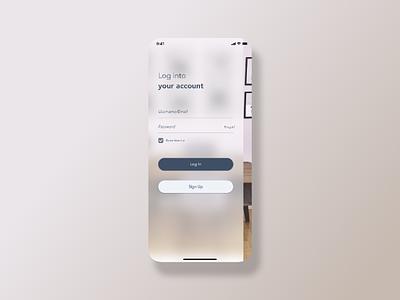 Log In Screen UI user interface application ios mobile app sketch design uiux ux ui