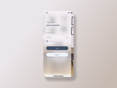 Log In Screen UI user interface application ios mobile app sketch design uiux ux ui