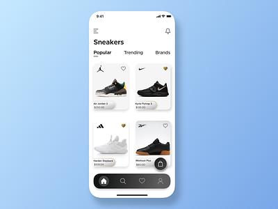 Sneaker App UI ios design application sketch ux ui ui design