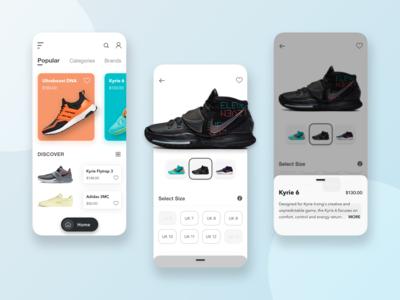 Shop Sneaker UI shoes store shoes app sneakers sneakerhead sneaker app design mobile user interface uiux ui design app ios application ux ui sketch