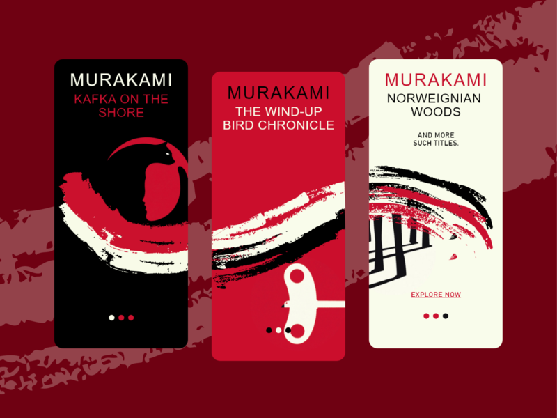 Onboarding Screens - Murakami Elements vectorart creative design minimal inspiration adobe illustrator adobe 2d creative onboarding onboarding screen inspo illustration vector designs design