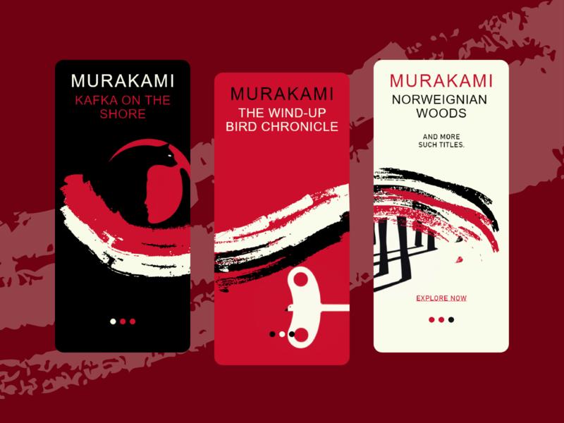 Onboarding Screens - Murakami Elements vectorart creative design minimal inspiration adobe illustrator adobe 2d creative onboarding onboarding screen inspo illustration vector designs design
