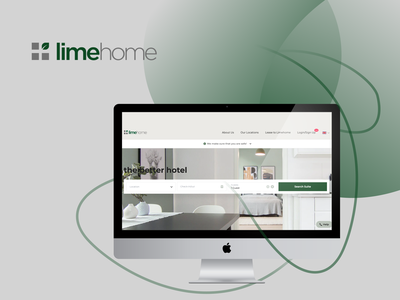 LimeHome webdesign web apartments hotel wealthy silver dark green grey white user experience design user experience ui ux upplabs software development fresh figma design design figma concept