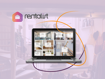 Rentalist - property rental website casestudy property rentalwebsite rental technology appdesign colormeaning rentalist website webdesign webapp web orange purple fresh ui upplabs concept figma design