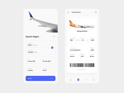Flight Tickets Booking App mobile ui mobile booking design flight design ticket booking app ui design app design app ui user interface app flight design ui ux design uiux design ux design ui design uiux ux ui