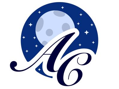 "Logotype ""AC"" stars moon branding illustrator illustrations blue logotype logo vector image design illustration"