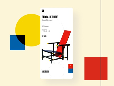 Daily UI 12   E-Commerce Shop furniture app furniture chair rietveld bauhaus ecommerce shop ecommerce design ecommerce app ecommerce ui daily ui dailyuichallenge dailyui daily 100 challenge
