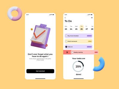 Daily UI 42 | ToDo List list to do list todo to do app to do todo list todo app todolist todoist ui daily ui dailyuichallenge dailyui daily 100 challenge