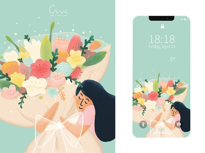 Happy mothers' day flower happiness illustration wallpaper mothersday
