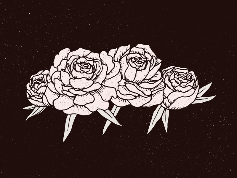 Flowers drawing black and white pen floral texture grunge illustration roses peonies flowers