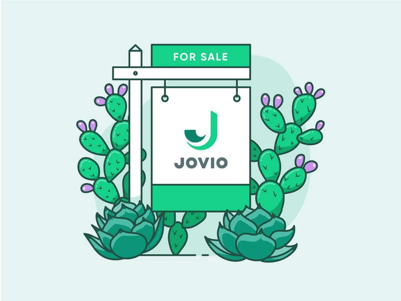 Selling Season illo green agave artichoke sign illustration prickly pear cacti cactus for sale for sale sign real estate