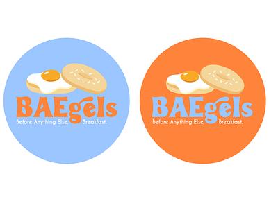 BAEgels Branding restaurant illustration branding mockups logo