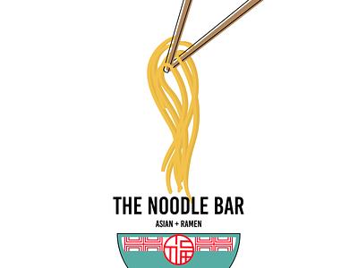 Takeout Menu Concept: The Noodle Bar restaurant branding illustration layout brochure design