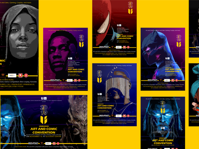 Unibadan Comic Con branding design illustration