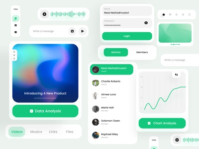 Ui Components | Light Part app design tabs mobile checkbox dropdown minimal navigation input box components fields dashboard buttons carts kit inputs design ui design design system component ui animation