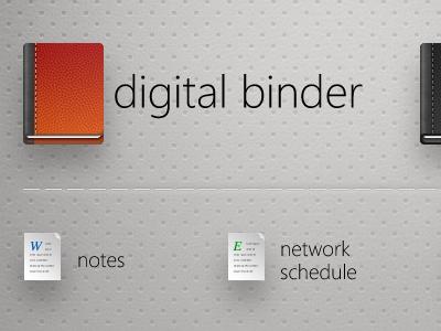 Digital binder home