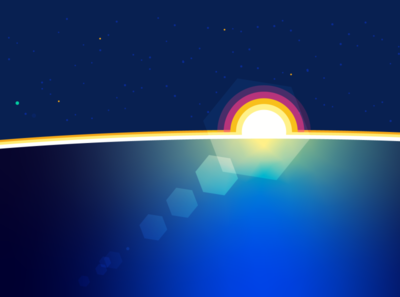 World sun moview mexico landscape flat aftereffects illustrator illustration design animation animación
