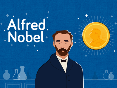 Alfred Nobel moview minimal mexico flat aftereffects illustrator illustration design animation animación