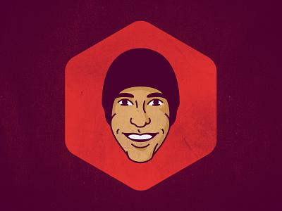 Gavatar face avatar beanie portrait headshot vector line illustration designer branding gavin thisisgav.in