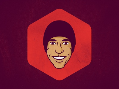 Gavatar face avatar beanie portrait headshot vector line illustration designer branding gavin thisisgav.in
