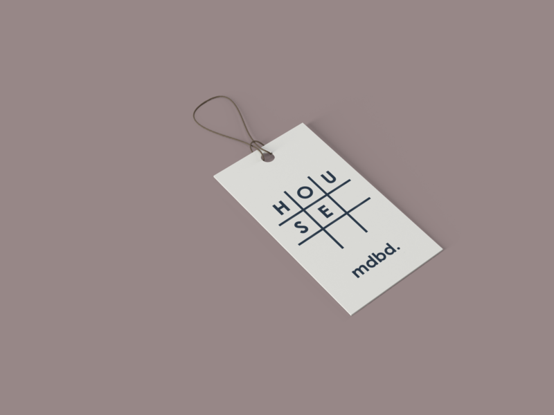 mdbd home goods tag tag illustration concept minimal logo icon design branding