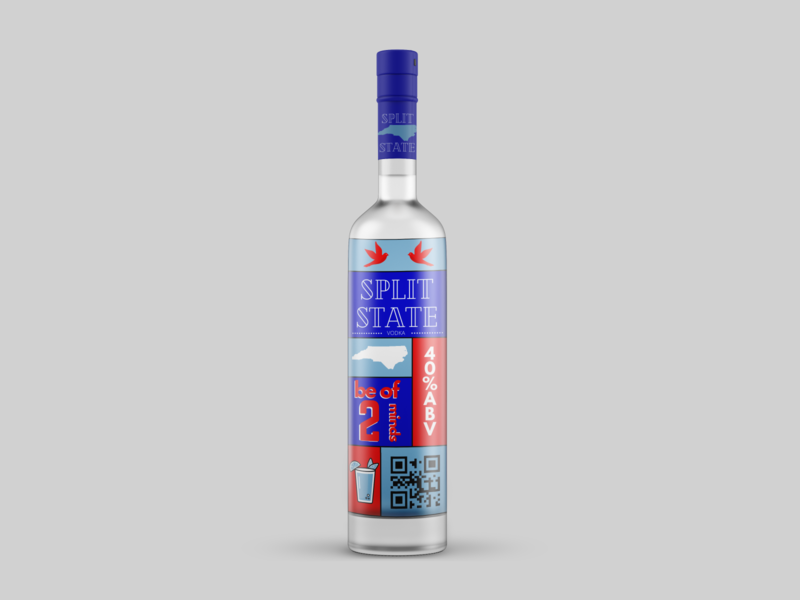 Split State Vodka vodka packaging mockup packaging design packaging conceptual design illustration concept logo design branding