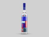 Split State Vodka vodka packaging mockup packaging design packaging conceptual design illustration concept logo design branding