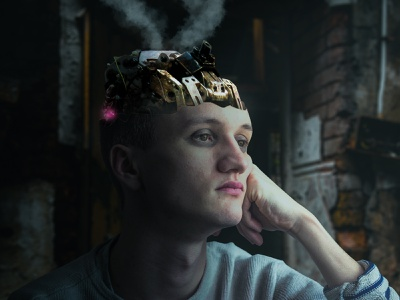 Quarantine Turn Off Your Brain artist imagemanipulation physicaldistancing quarantine photoshop design fantasy digital imaging digitalart