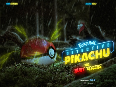 Detective Pikachu : The Hunt Begins movie movieposter poster hunt pikachu pokemon artist photoshop fantasy art digital imaging digitalart design