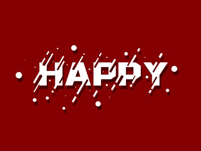 HAPPY design photoshop art typogaphy