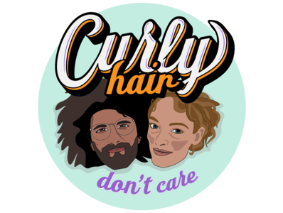 curly hair don't care none vector self portrait illustrator