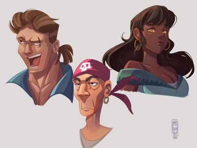 Pirates color characterdesign illustration ipad pro procreate pirates