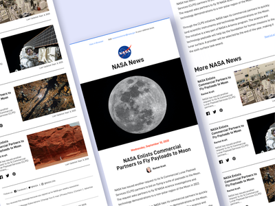 NASA Email Newsletter mars moon spacex visual design branding email newsletter email template email design articles newsletter graphics newsletter design email marketing newsletter email space nasa webdesign design ux ui