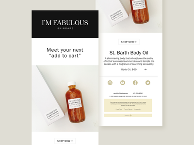 Fabulous Beauty Email Newsletter product newsletter beauty newsletter beauty app beauty product beauty email marketing email template newsletter newsletter design email newsletter email design ecommerce design ecommerce shop minimal ecommerce branding webdesign design ux ui