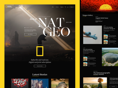 National Geographic Redesign Concept nature photography nature photography desktop design iconic landingpage ux design uidesign website redesign redesign redesign concept website design magazine natgeo national geographic branding webdesign design ux ui