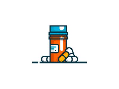 Pills lineart drug medicine icon pills