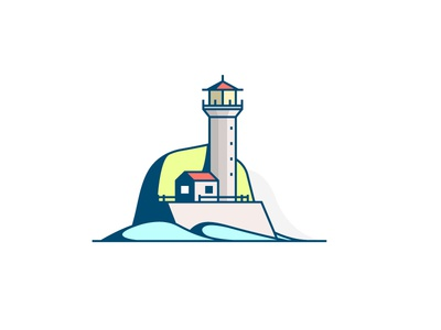 Lighthouse house icon littlearchitecture illustration lighthouse architecture