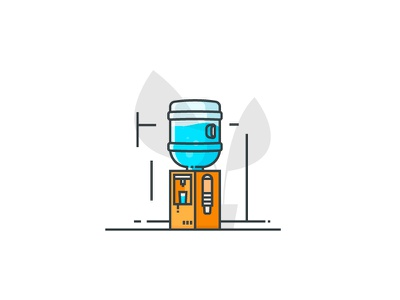 Cooler flower cup icon water cooler