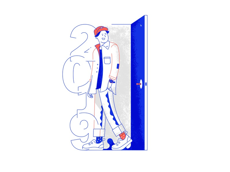 Christmas illustration #12 door 2019 christmas vector texture design lineart illustration