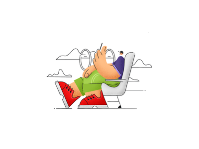 Passenger procreate ipadpro texture noise illustration man