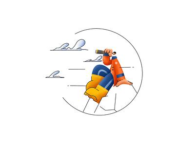 I see the target procreate illustrator ipadpro mountains design texture lineart illustration