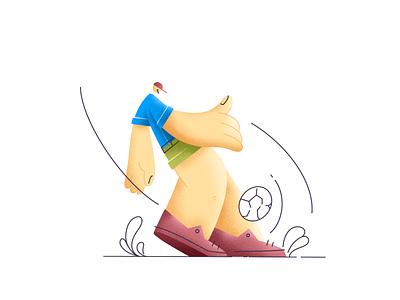 Kicker character design texture lineart illustration