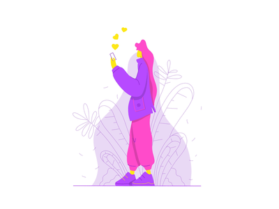 Stroll social flat illustration