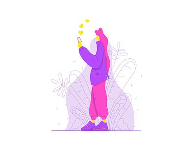 Stroll social flat illustration