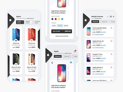 Mobile Phone Store vector apple design branding ux design design ios app design adobe xd web design app design ui design