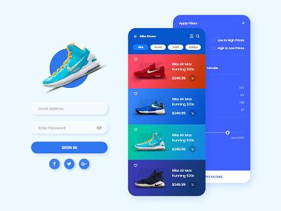 Nike Store Design shoe store app branding ux design design adobe xd web design app design ui design