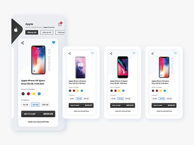 Mobile Phones Store apple design phone store branding ux design ios app design design adobe xd web design app design ui design